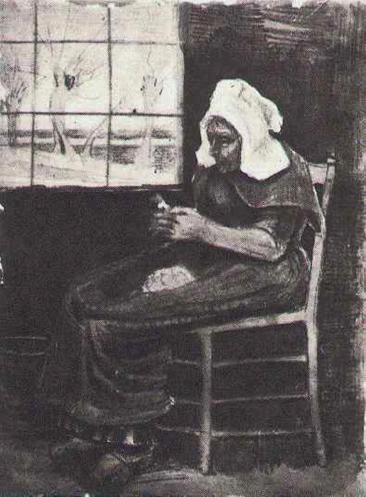 Woman Peeling Potatoes near a Window, 1881