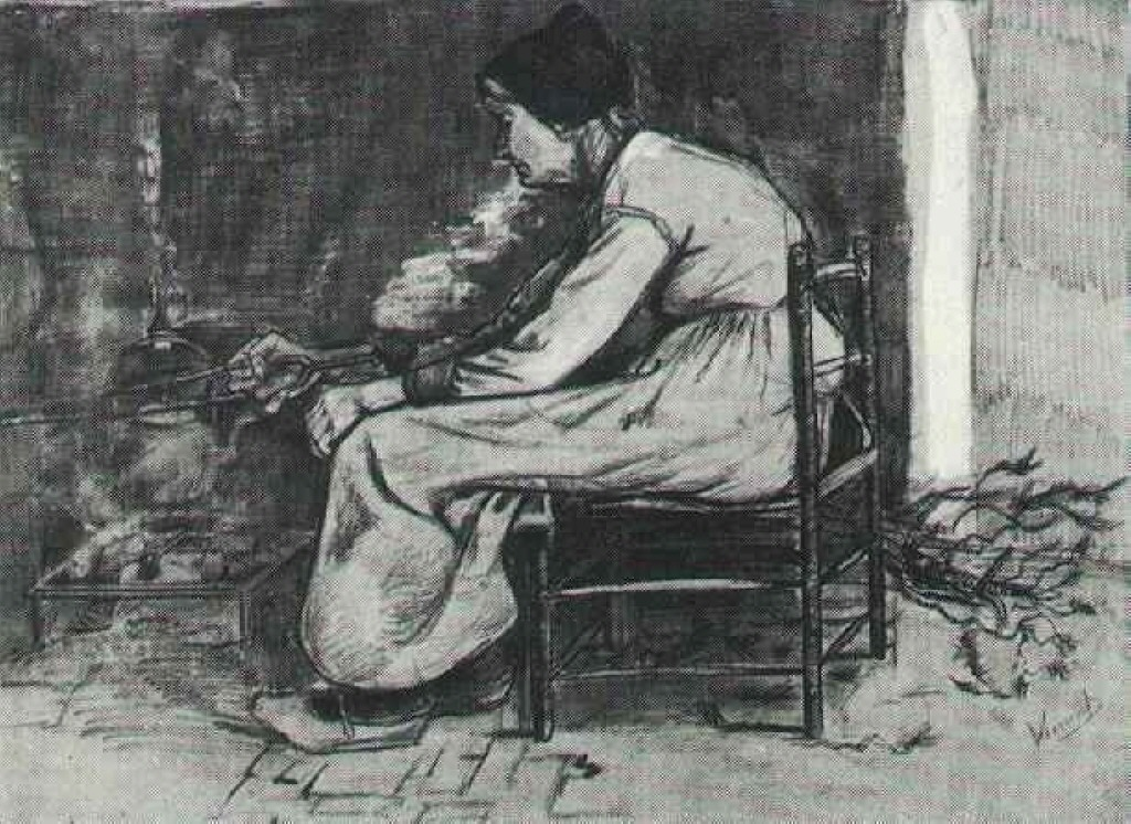 Woman Sitting at the Fireside, 1881