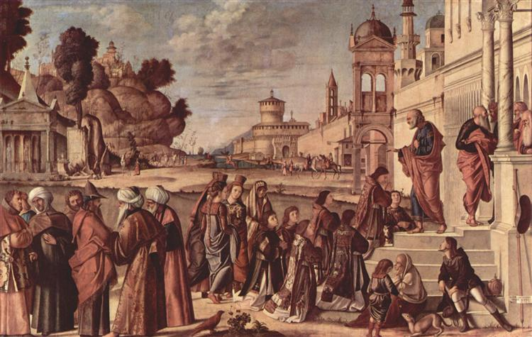 St. Stephen is Consecrated Deacon, c.1514 - Vittore Carpaccio