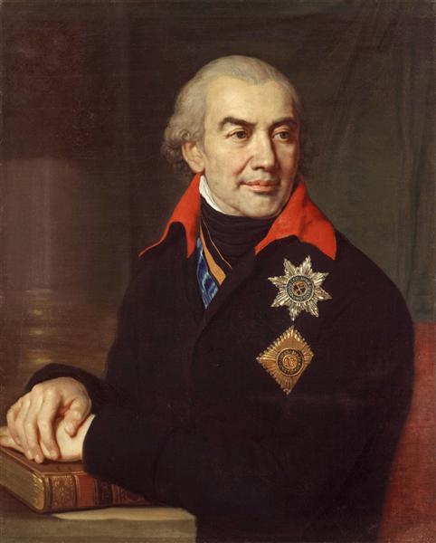 Portrait G.S. Volokonsky, 1806 - Vladimir Borovikovsky
