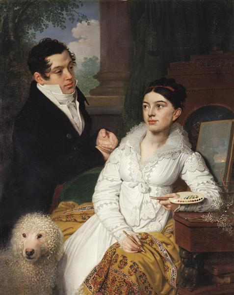 Portrait of A. G. and A. A. Lobanov Rostovsky, 1814 - Vladimir Borovikovsky