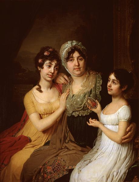 Portrait ofA.I.Bezborodkowithdaughters, 1803 - Vladimir Borovikovsky
