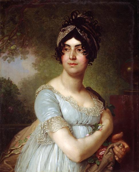 Portrait of DariaSemyonovnaBaratoff - Vladimir Borovikovsky