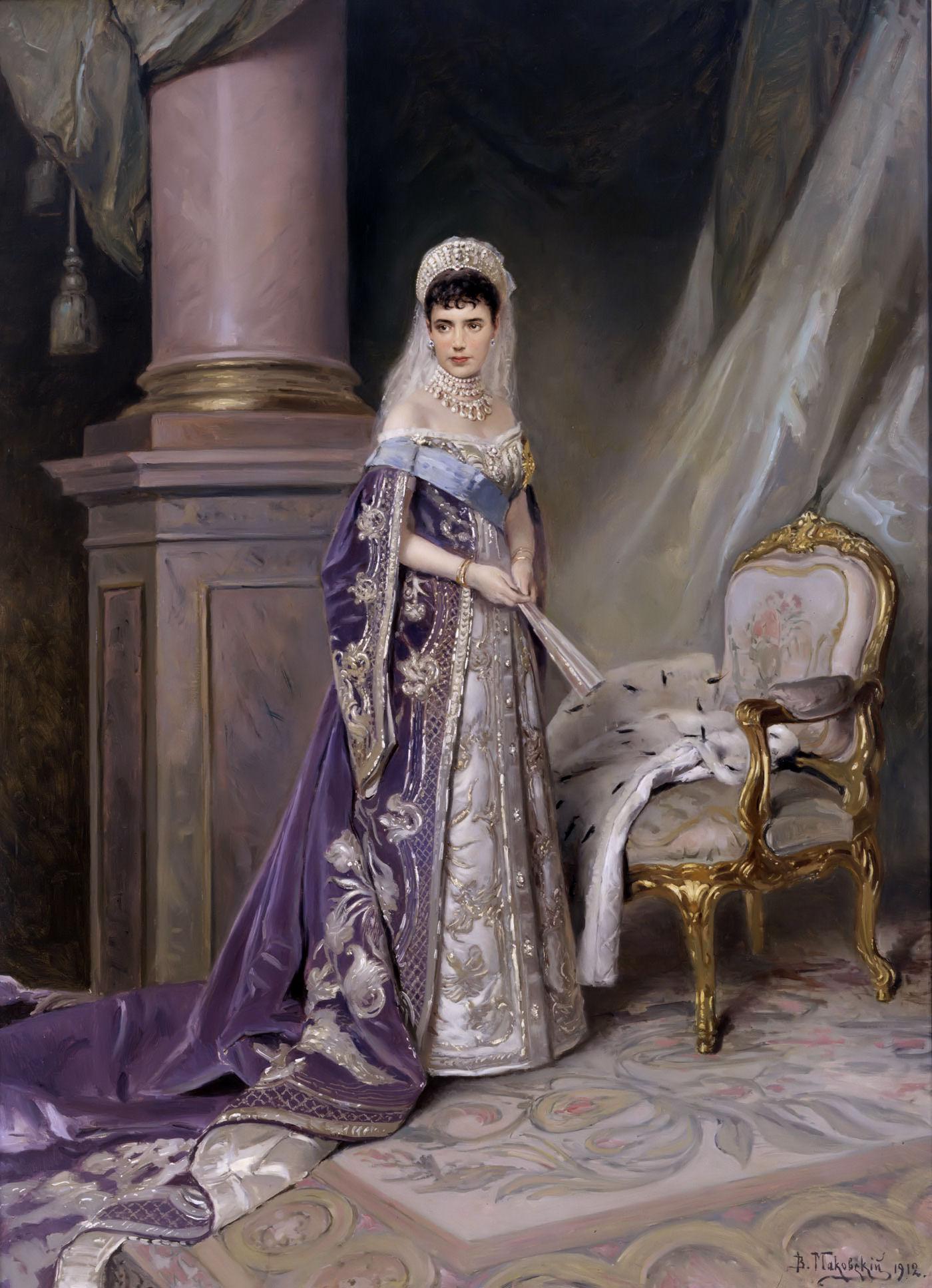 Russian Royal Wedding Dresses : Empress maria feodorovna vladimir makovsky wikiart