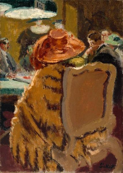 Baccarat - the Fur Cape, 1920 - Walter Sickert