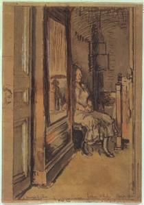 Study for `The wardrobe' - Walter Sickert