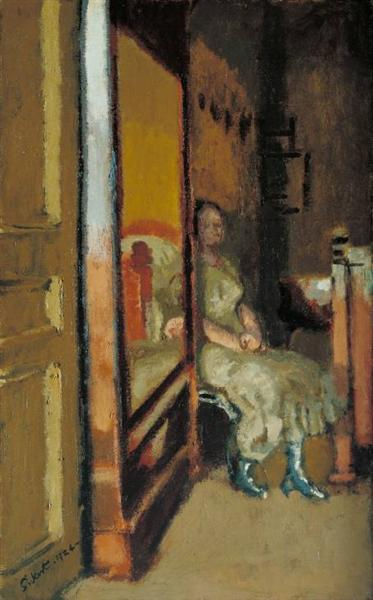The wardrobe, 1924 - Walter Sickert