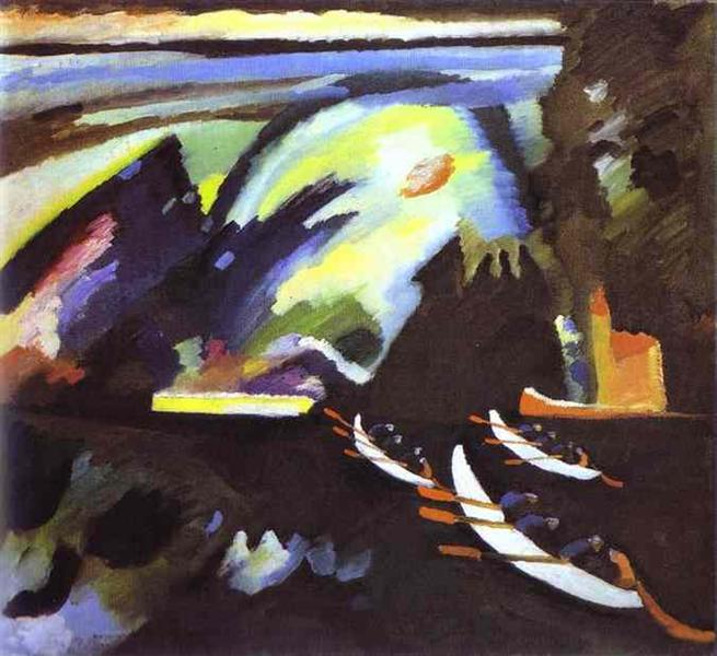 Boat Trip, 1910 - Wassily Kandinsky