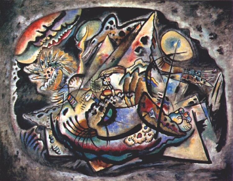 Grey oval, 1917 - Wassily Kandinsky