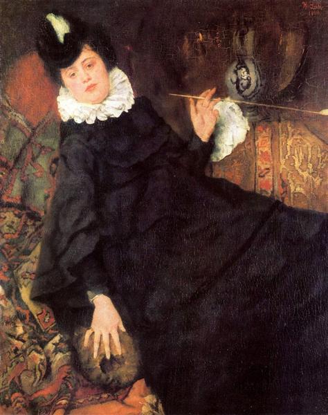 Die junge Pariserin (Die Kokotte), 1869 - Wilhelm Leibl