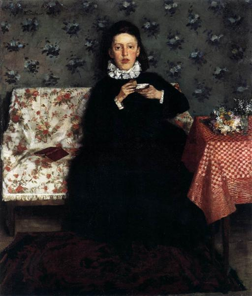 On the Sofa, 1872 - Wilhelm Trübner