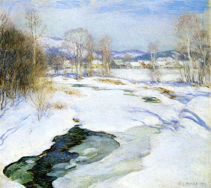 Icebound Brook (aka Winter's Mantle), 1922 - Willard Metcalf