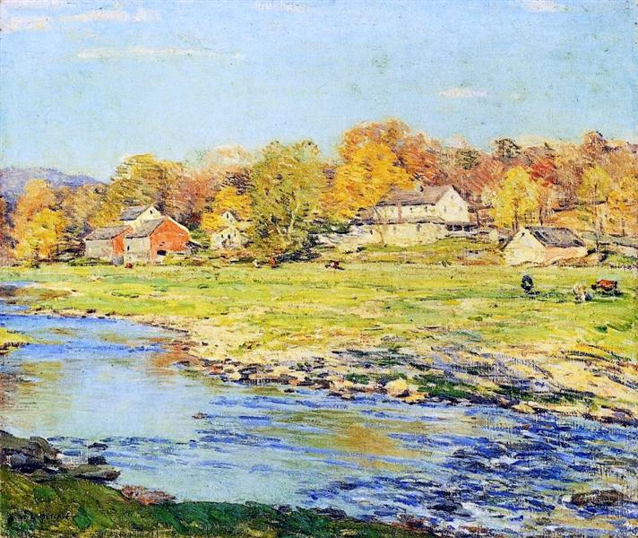 Late Afternoon in October, 1920 - Willard Metcalf