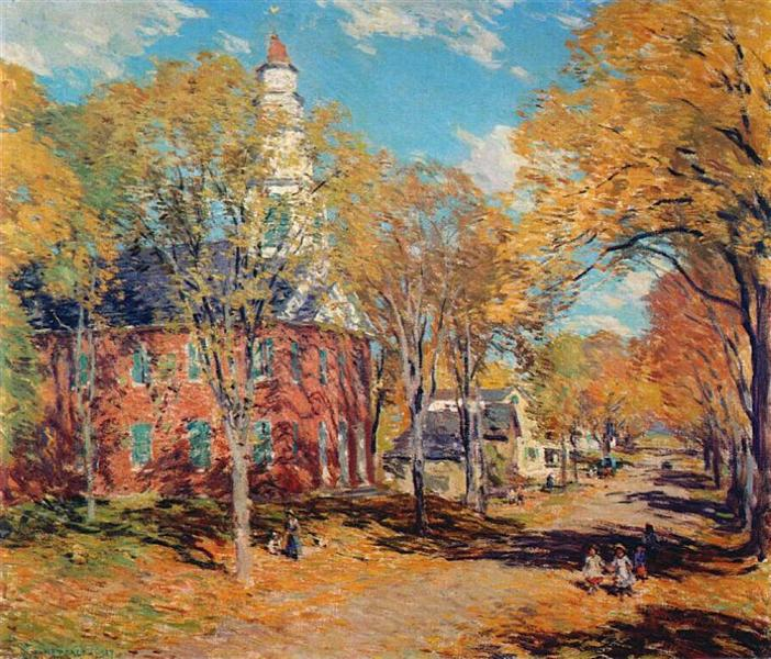October Morning, Deerfield, 1917 - Willard Metcalf