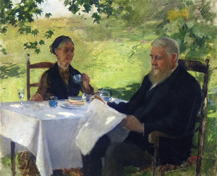 Tea on the Porch, 1890 - Willard Metcalf