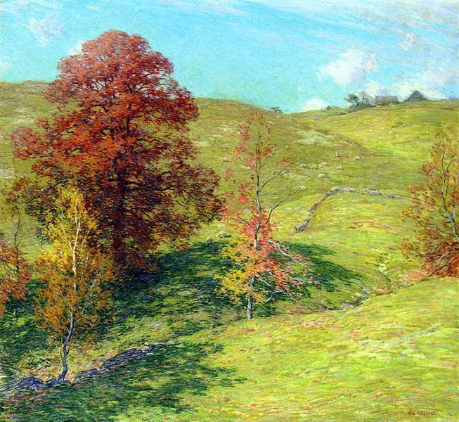 The Red Oak (no.2), 1911 - Willard Metcalf