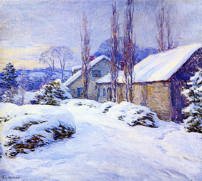 Winter Afternoon, 1917 - Willard Metcalf