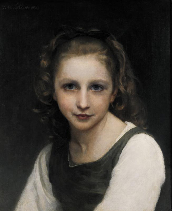 Portrait of a Young Girl - William-Adolphe Bouguereau