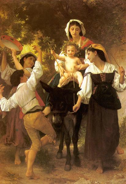 Return from the Harvest, c.1878 - William-Adolphe Bouguereau