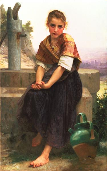 The Broken Pitcher, 1891 - William-Adolphe Bouguereau