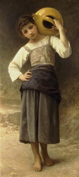The Water Girl (Young Girl Going to the Spring), 1885 - William-Adolphe Bouguereau