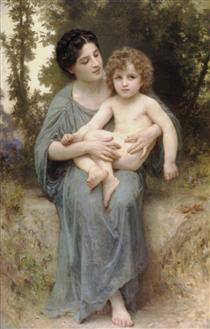 The younger brother - William-Adolphe Bouguereau
