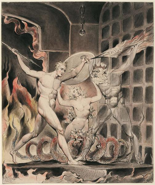 Illustration to Milton`s Paradise Lost, 1807 - William Blake