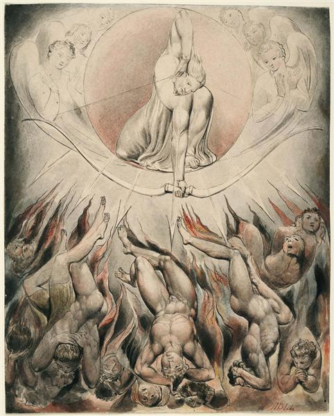 Illustration to Milton`s Paradise Lost, 1807 - William Blake