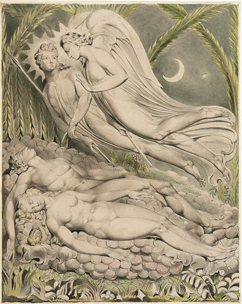 Illustration to Milton`s Paradise Lost, 1808 - William Blake