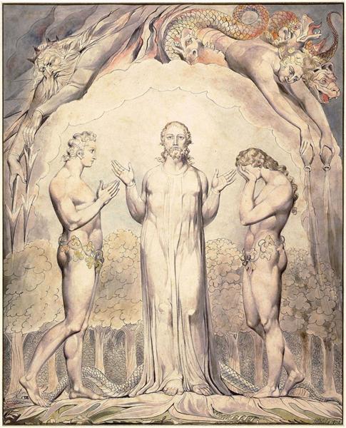 Illustration to Milton`s Paradise Lost, 1808 - William Blake