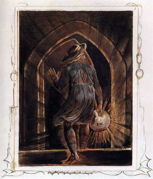 Los Entering the Grave, 1804 - 1820 - William Blake