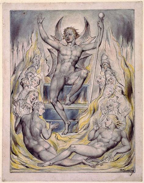 Satan Addressing his Potentates, c.1816 - 1818 - William Blake
