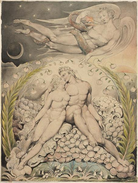 Illustration to Milton's Lost Paradise, 1808 - William Blake