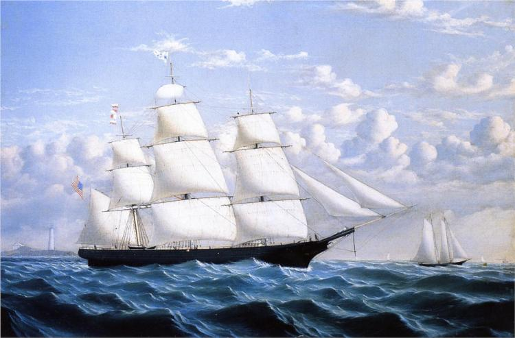 Clipper Ship 'Northern Light' of Boston, 1854 - William Bradford