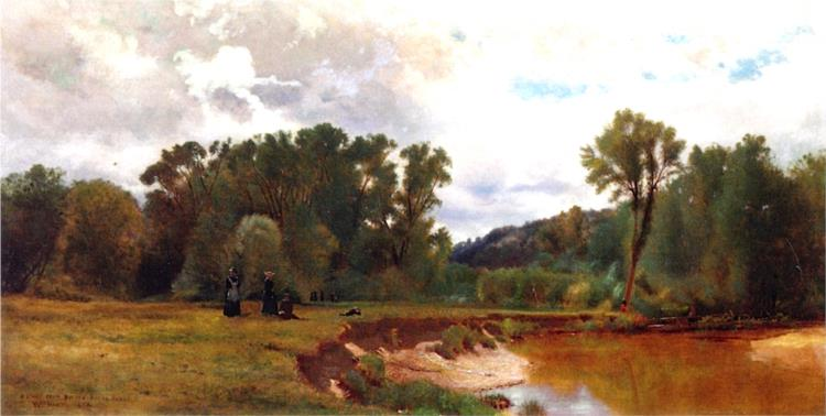 A Study from Nature, Keene Valley, 1874 - Уильям Харт