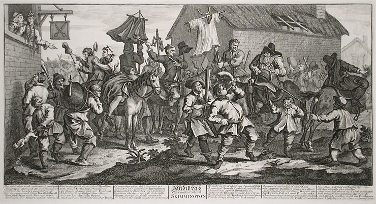 Hudibras Encounters the Skimmington, from 'Hudibras', by Samuel Butler, 1726 - William Hogarth