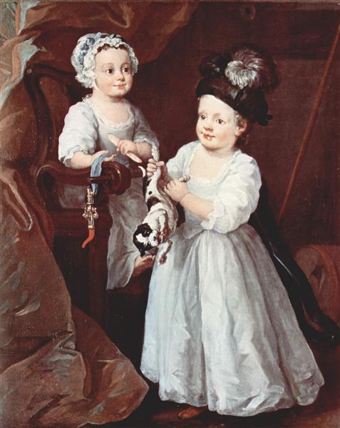 Portrait of Lady Mary Grey and Lord George Grey, 1740 - William Hogarth