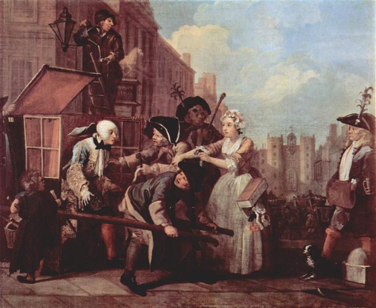 The arrest for theft, 1732 - 1735 - William Hogarth