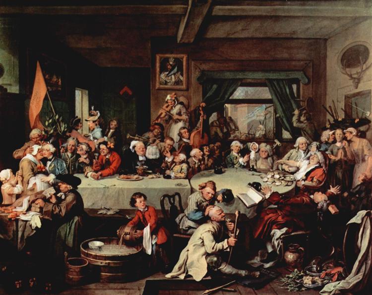 The Banquet, 1754 - 1755 - William Hogarth