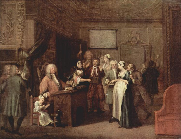 The Denunciation, c.1729 - William Hogarth