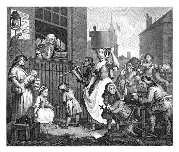 The Enraged Musician, 1741 - William Hogarth