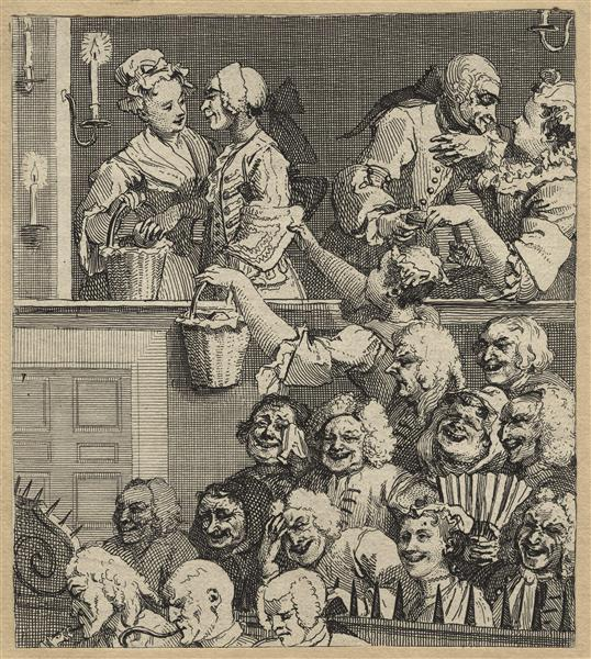 The Laughing Audience (or A Pleased Audience) - William Hogarth