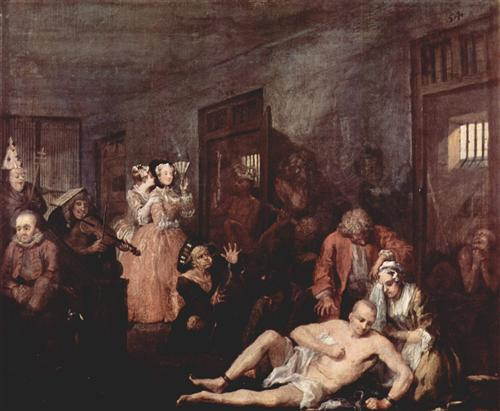 The Madhouse - William Hogarth