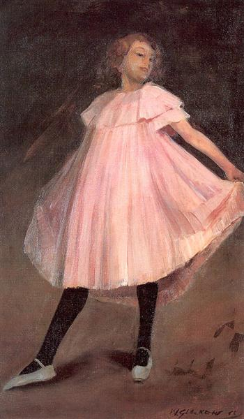 Dancer in a pink dress, 1902 - William James Glackens