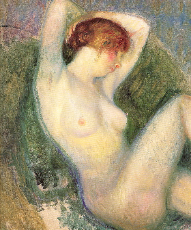 Nude in green chair  William James Glackens  WikiPaintings.org