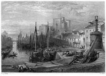 Castle Rushen, Castleton, Isle of Man, engraving by William Miller after Leitch - Вільям Лейтон Лейтч