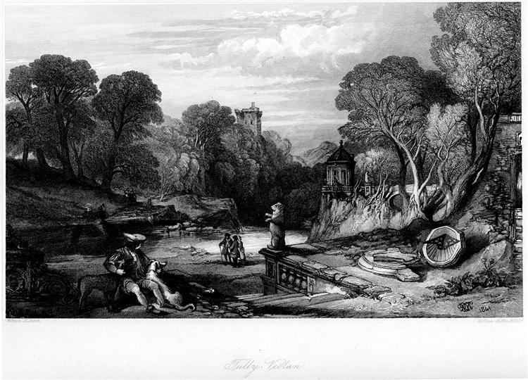 Tulleveolan, engraving by William Miller after Leitch, from Eight Engravings in Illustration of Waverley, 1865 - William Leighton Leitch