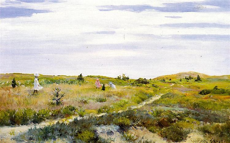 Along the Path at Shinnecock, 1896 - William Merritt Chase