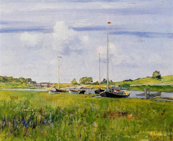 At the Boat Landing, 1902 - William Merritt Chase