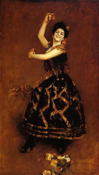Carmencita, c.1888 - William Merritt Chase